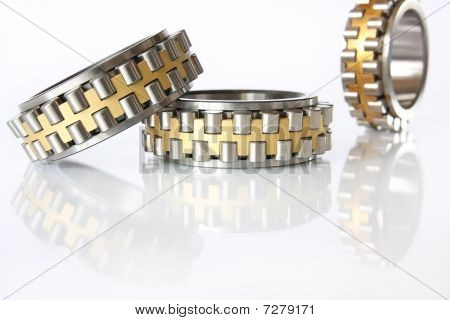 Three radial-thrust bearing