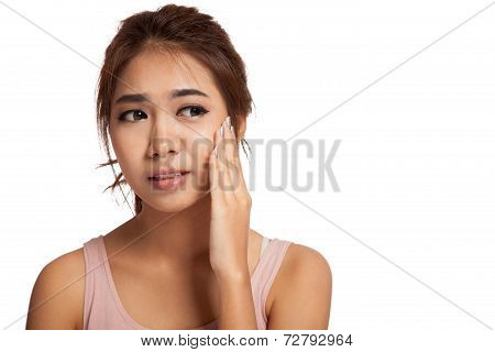 Pretty Asian Girl Has Toothache