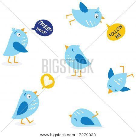 message birds set