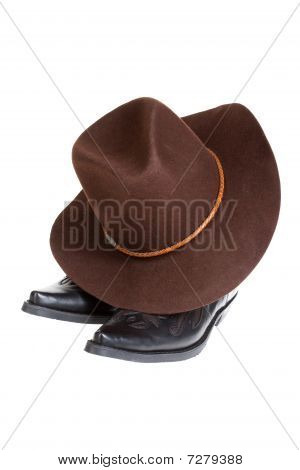 Hat, Boots And Gun