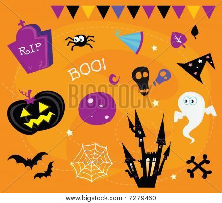 Halloween icons and design elements