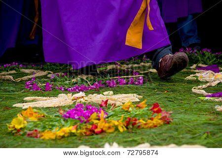 easter carpets in antigua guatemala