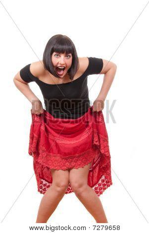 Happy Playful  Mature Woman