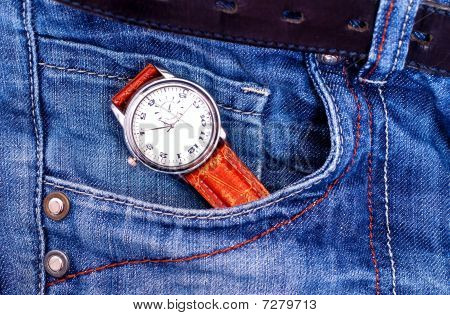 Watch in pocket