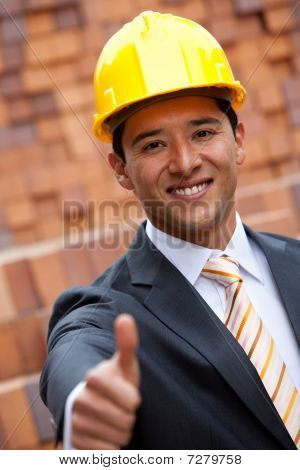 Engineer With Thumbs-up