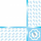 picture of happy baby boy  - Cute Baby boy arrival card - JPG