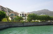 stock photo of lantau island  - Apartment blocks in Lantau Island Hong Kong - JPG