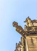 foto of gargoyles  - ugly gargoyle sculpture at the dome in cologne - JPG