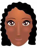 stock photo of african american hair styles  - Pretty young african american woman with beautiful hair - JPG