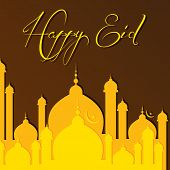 foto of kaba  - vector illustration of Creative Eid greeting card - JPG