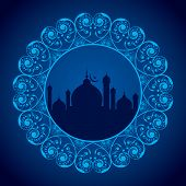 picture of kaba  - vector illustration of Creative Eid greeting card - JPG