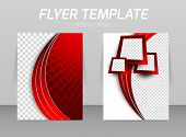 foto of red back  - Flyer back and front design template in red color - JPG