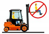 pic of deportation  - Dangers of working with a forklift truck - JPG