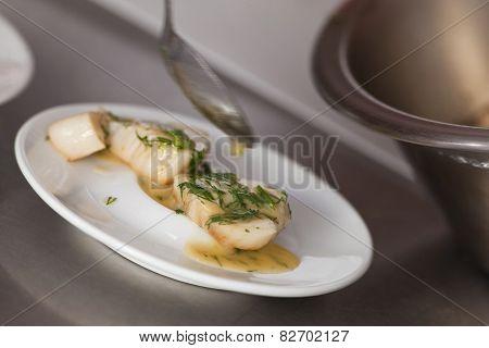 Cooking Saint-jacques