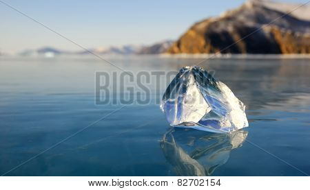 Piece Of Ice On The Lake