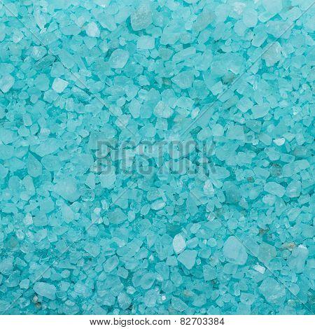 blue aromatic bath salt background