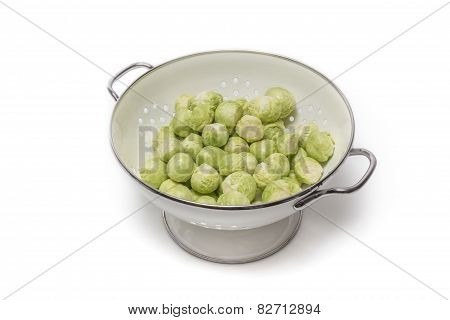 Brussels Sprouts In A Sieve