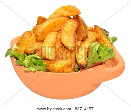 Potato Wedges In Bowl