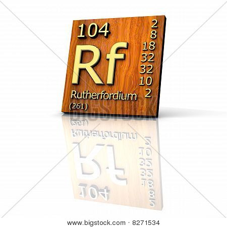 Rutherfordium Form Periodic Table Of Elements - Wood Board