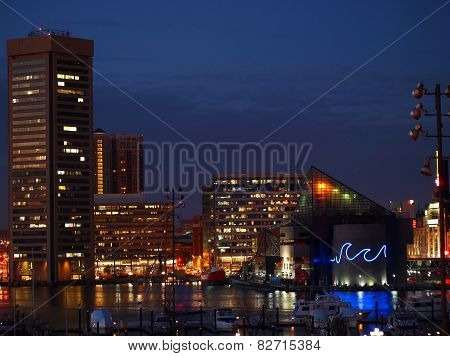 Inner Harbor Baltimore Night