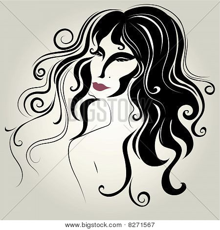 portrait of woman with long hair (From my big