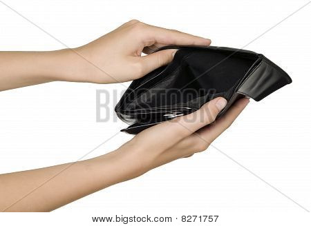 Empty Black Wallet