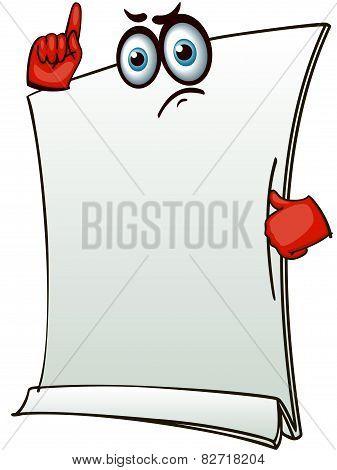 stylized blank banner