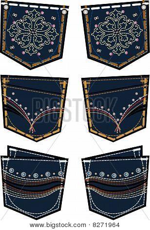Lady Jeans Back Pocket