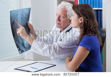Physician Showing Rtg To His Patient