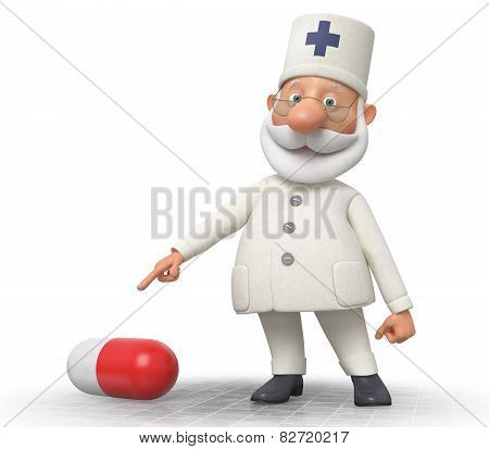 Doctor With Tablets