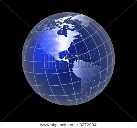 Soft Blue Globe