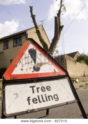 Tree felling sign 0347