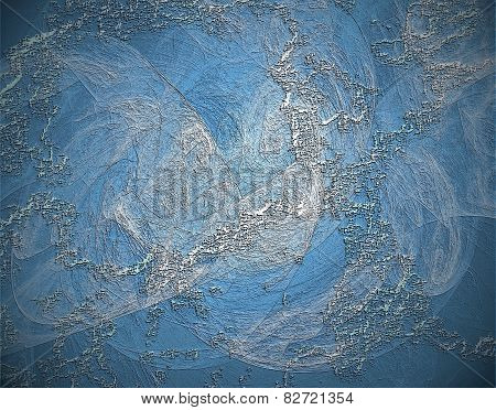 Relief Texture Or Background In Blue Spectrum