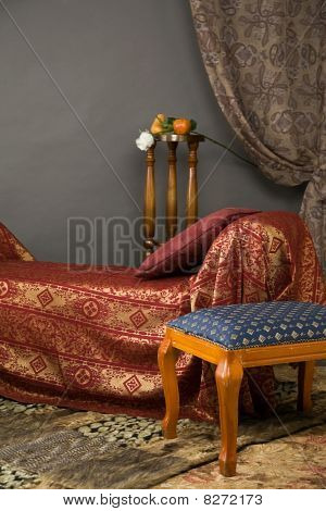 Luxurioãs Interior Of The Boudoir