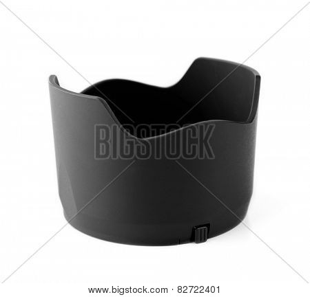 Lens hood isolated on white