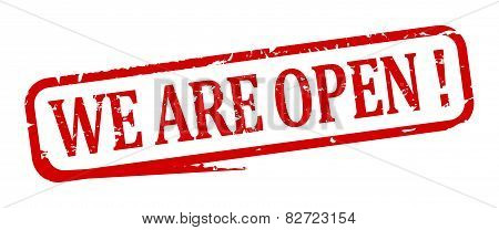 Oval Stamp - We Are Open