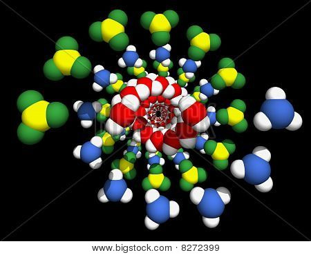 Model Of Dna Molecule.