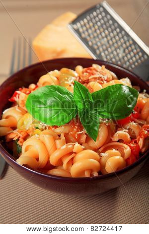 Pasta With Cherry Tomatos And Parmesan Cheese
