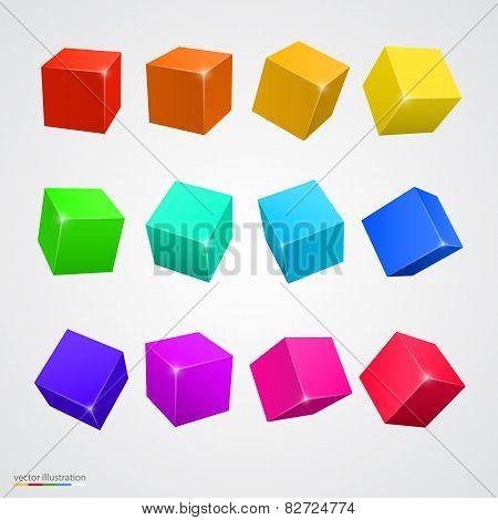 Set colored cubes