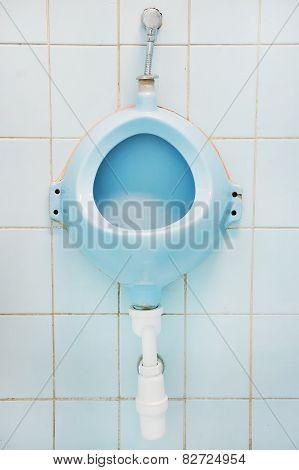 Blue Urinal