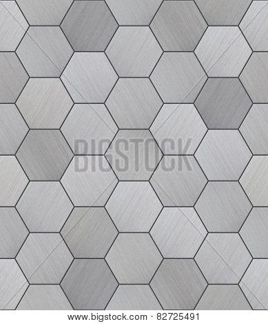 Hexagonal Aluminum Tiled Seamless Texture
