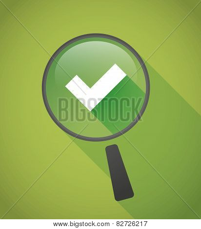 Magnifier Icon With A Check Mark