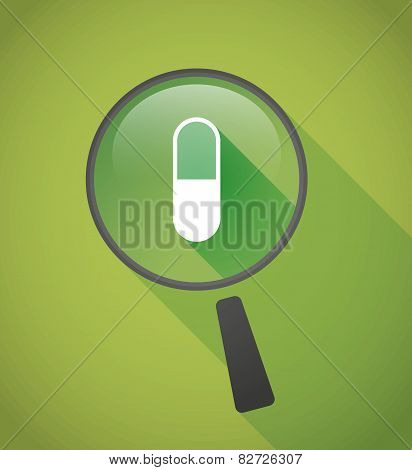 Magnifier Icon With A Pill