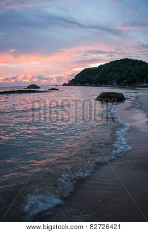 Sunsets And Sunrises At Cristal Bay, Samui, Thailand