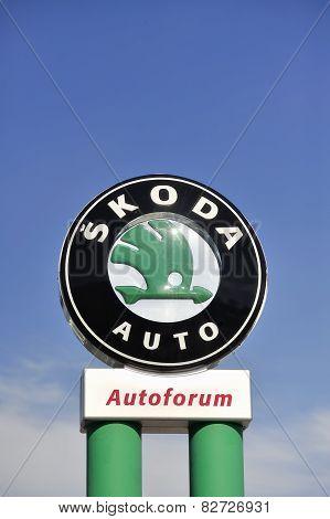 Skoda sign