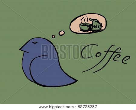 coffee cup birds