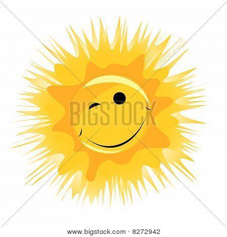 vector happy sun