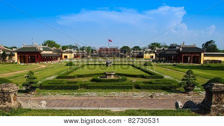 Interior Gardens Of The Imperial City, Hue, Vietnam.