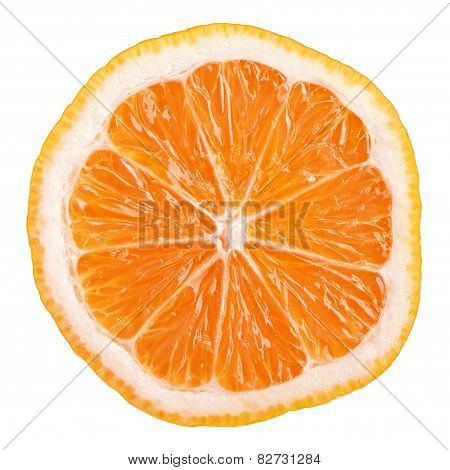 Slice Of Rangpur (lemandarin) - Citrus Fruit, Hybrid Mandarin Orange And Lemon