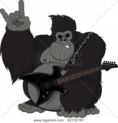 Monkey with a guitar